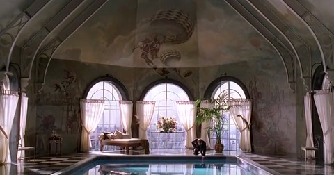 meet joe black movie swimming pool
