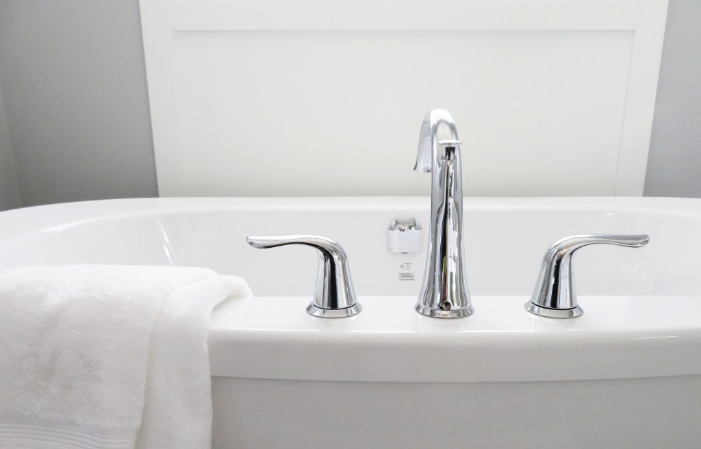 bathtub faucet - home staging